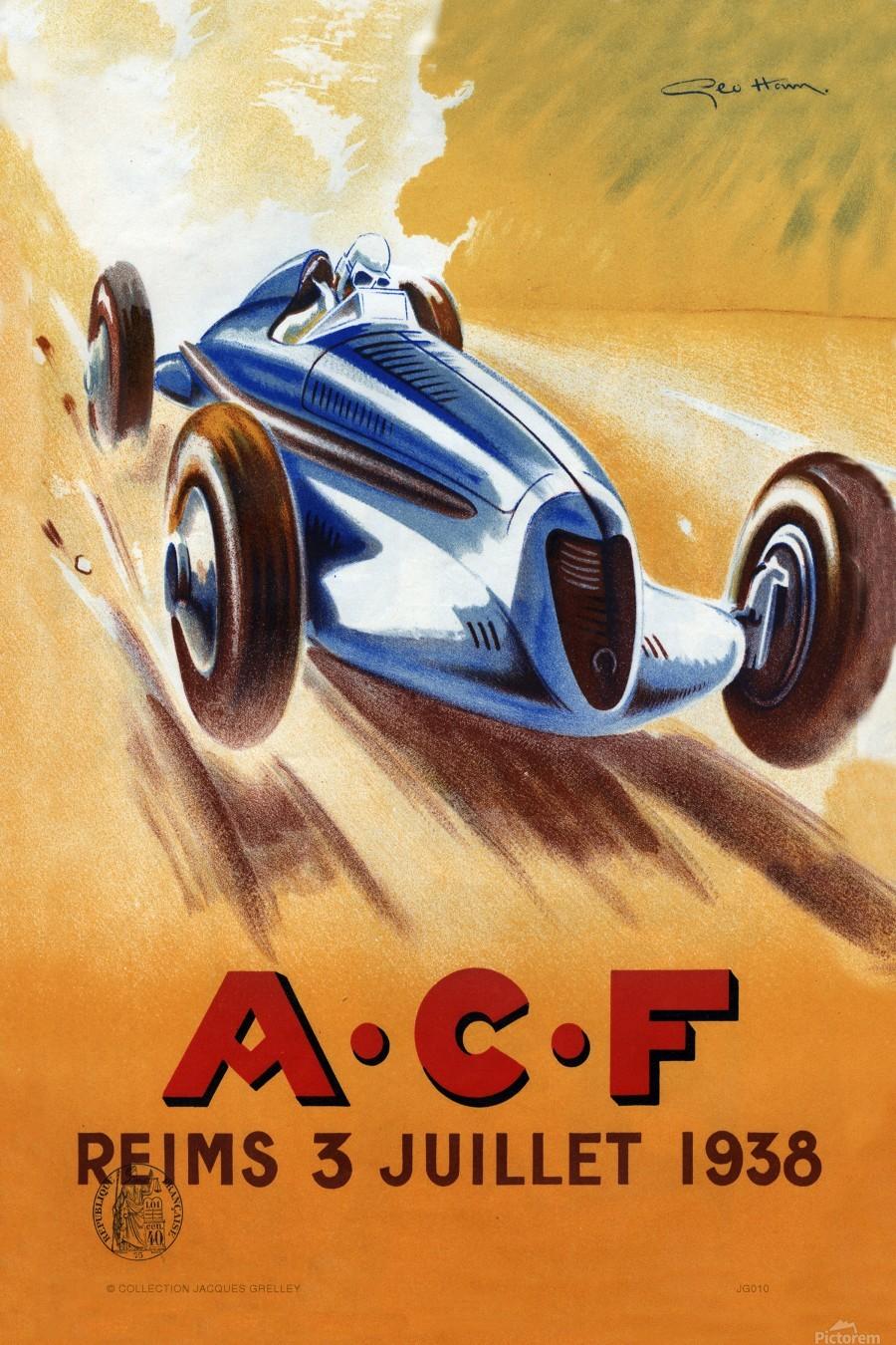 ACF Reims 3 Juillet 1938  Print