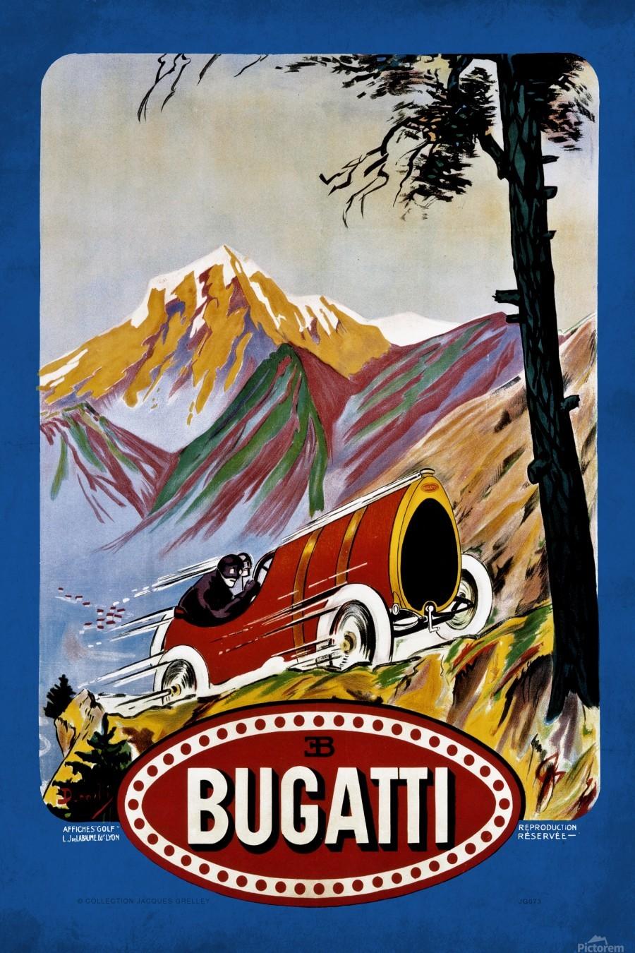 Bugatti Type 9 Prince Henri Affiche Golf Lyon 1911  Print