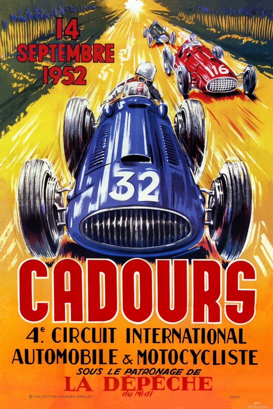 Cadours 4th Circut International 1952  Print