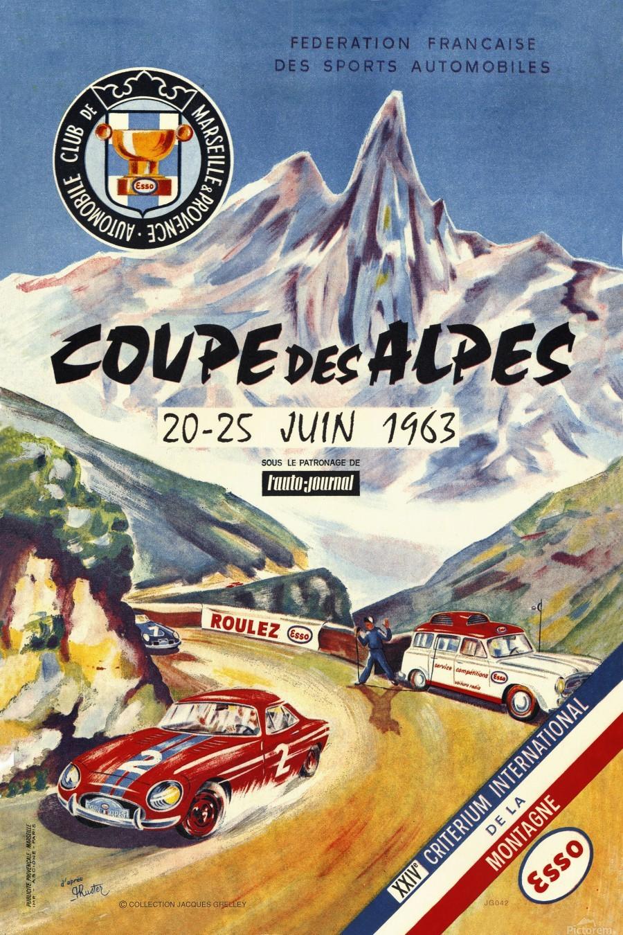 Coupe Des Alpes Federation Francaise Des Sports Automobiles 1963  Print