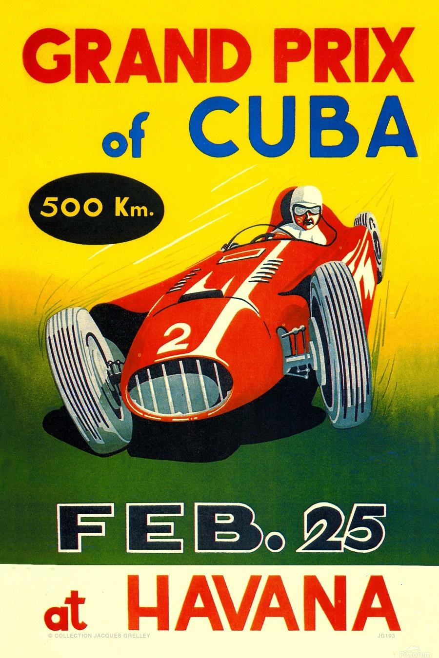 Cuba Grand Prix Havana 1958  Print