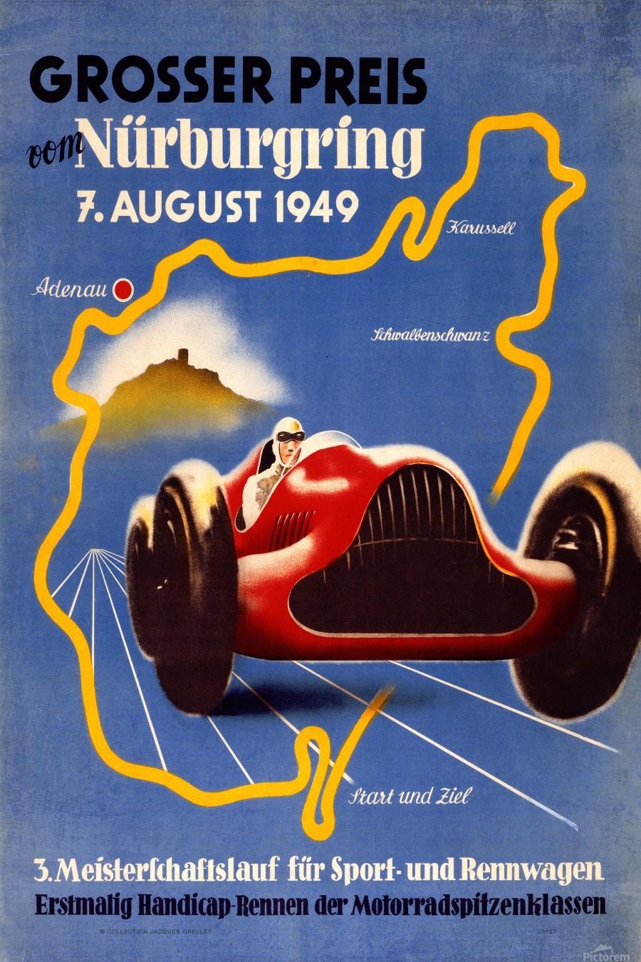 German Grand Prix Grosser Preis Vom Nurburgring 1949  Print