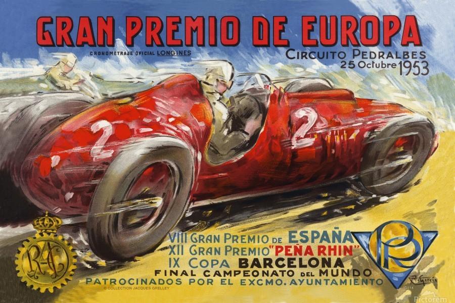 Gran Premio De Europa VII Espana XII Pena Rin IX Barcelona 1953  Imprimer