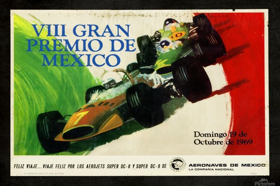 Mexico Grand Prix VII Gran Premio De Mexico 1969  Print