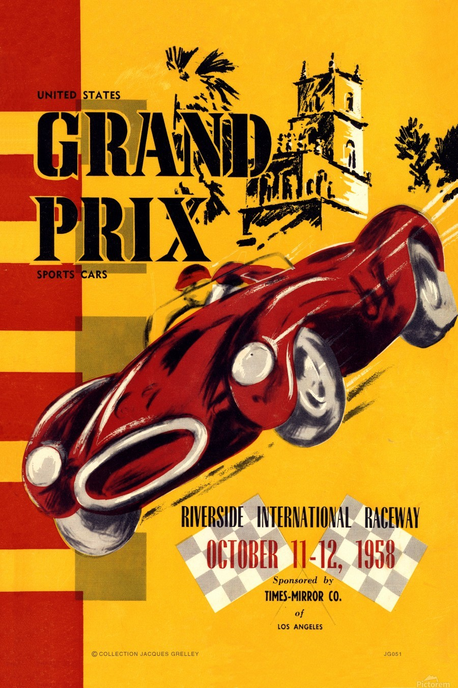 Us Grand Prix Sports Riverside International Raceway 1958  Print