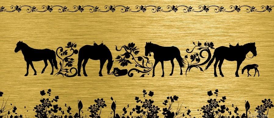 Gold illustration for interior decoration 2  Print