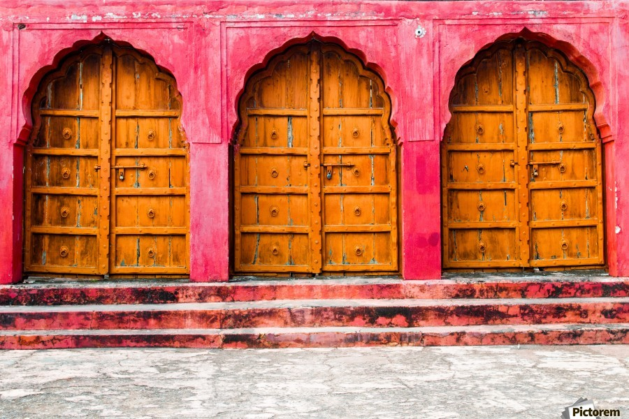 Doors of the Pink City   Print
