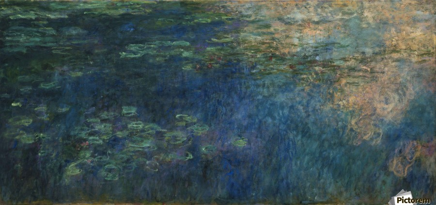 Reflections Of Clouds On The Water Lily Pond Claude Monet Canvas Artwork