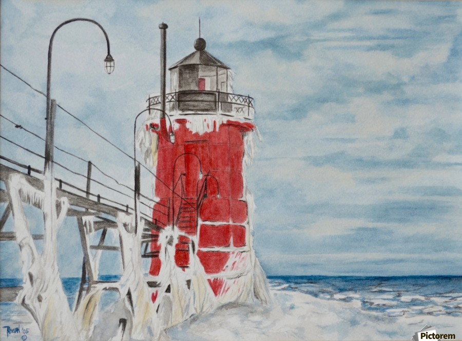South Haven Lighthouse Michigan   Print