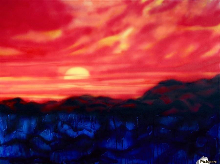 Fire Sunset  Print