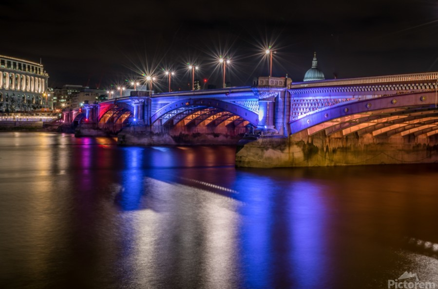 London Bridge at night  Print