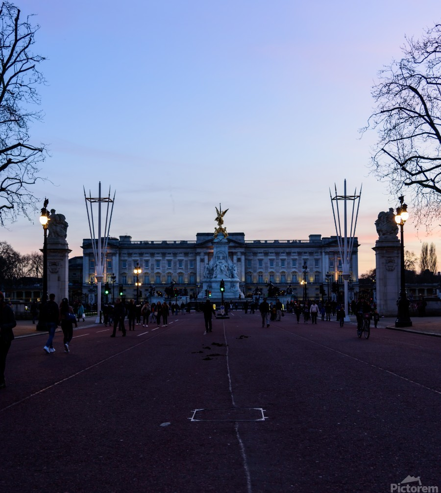 Dusk at Buckingham Palace London  Print