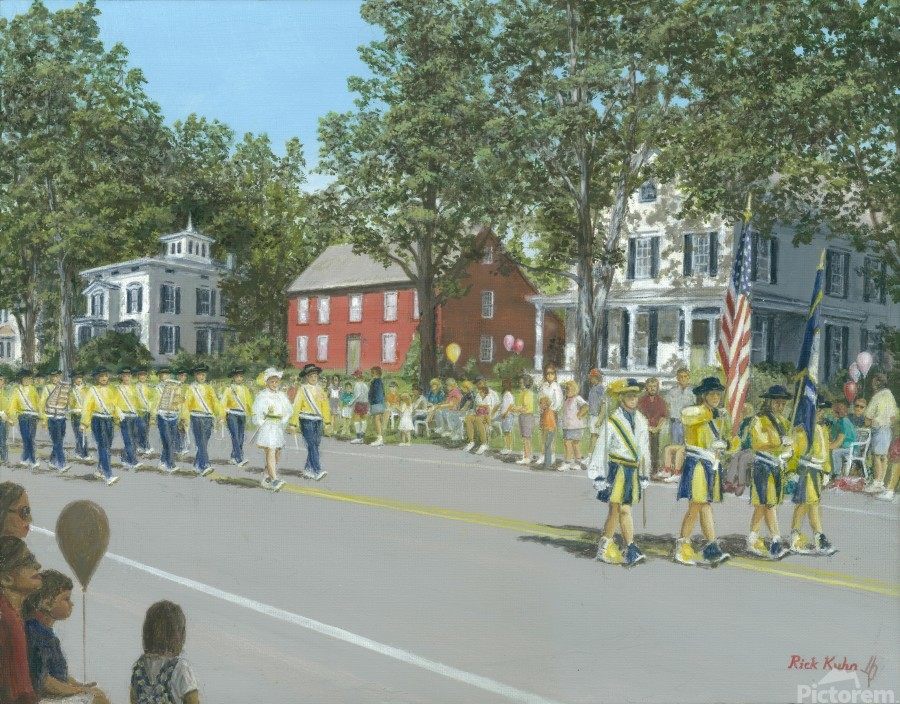 Labor Day Parade - Newtown Series 14X18  Print