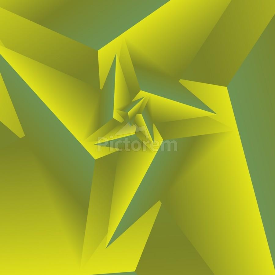 3D Triangle Pattern Art - rizu_designs Canvas