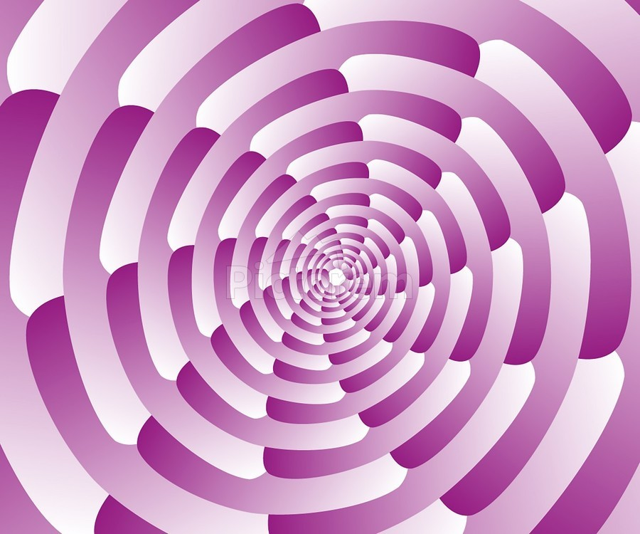 Abstract Pink Spiral Art   Print