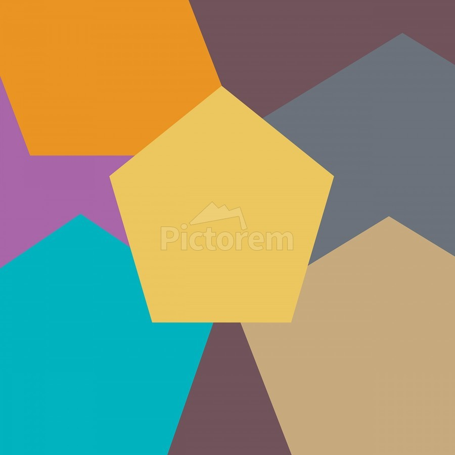 COLORFUL HEXAGON Pattern  Print
