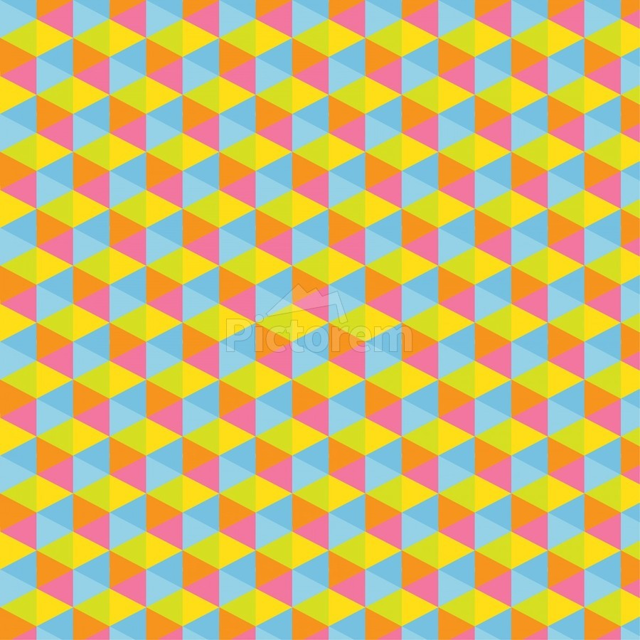 Hexagon Seamless Pattern Artwork  Print