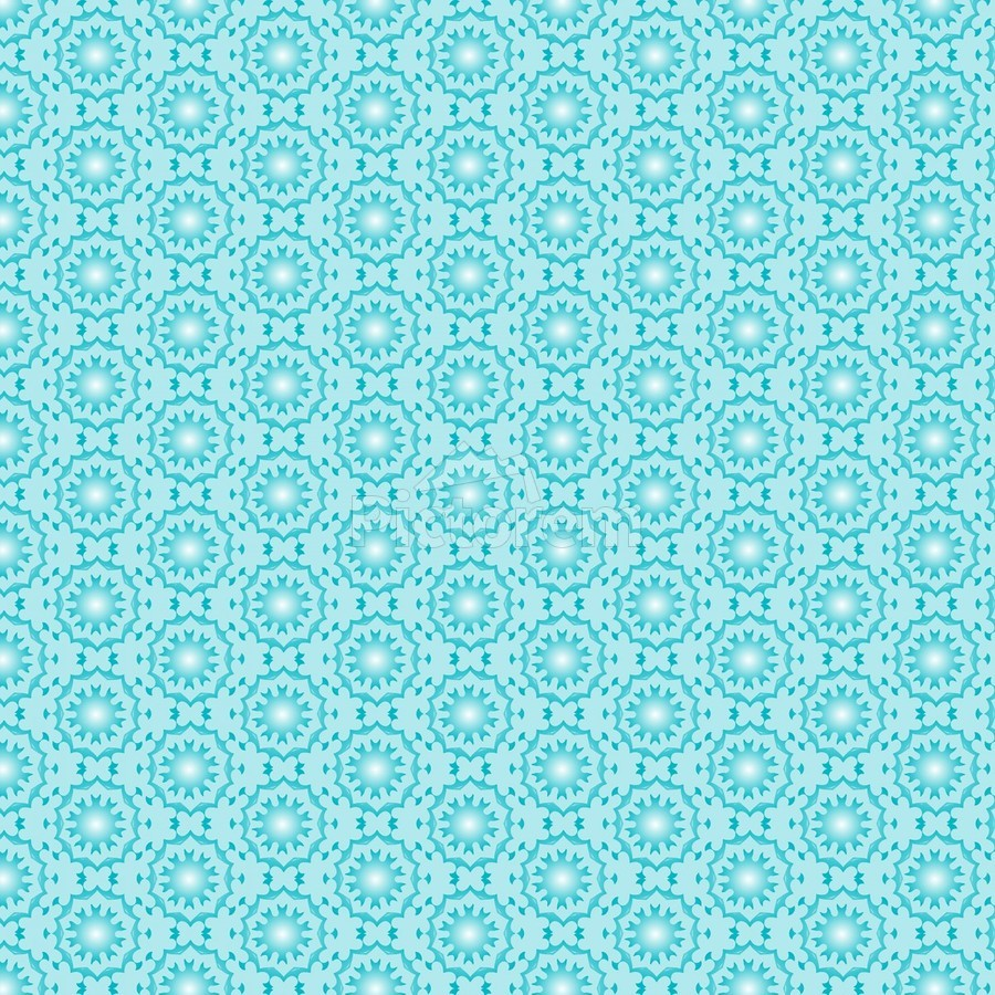 Islamic Blue Art   Print