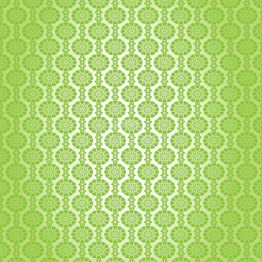 Islamic Green Art  Print