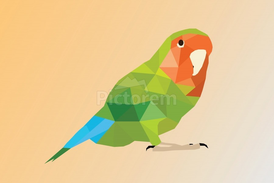 Parrot LOW POLY ART - Rizwana Khan Canvas