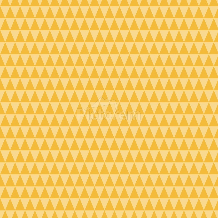 YELLOW Triangle Shape Seamless Pattern Background    Print
