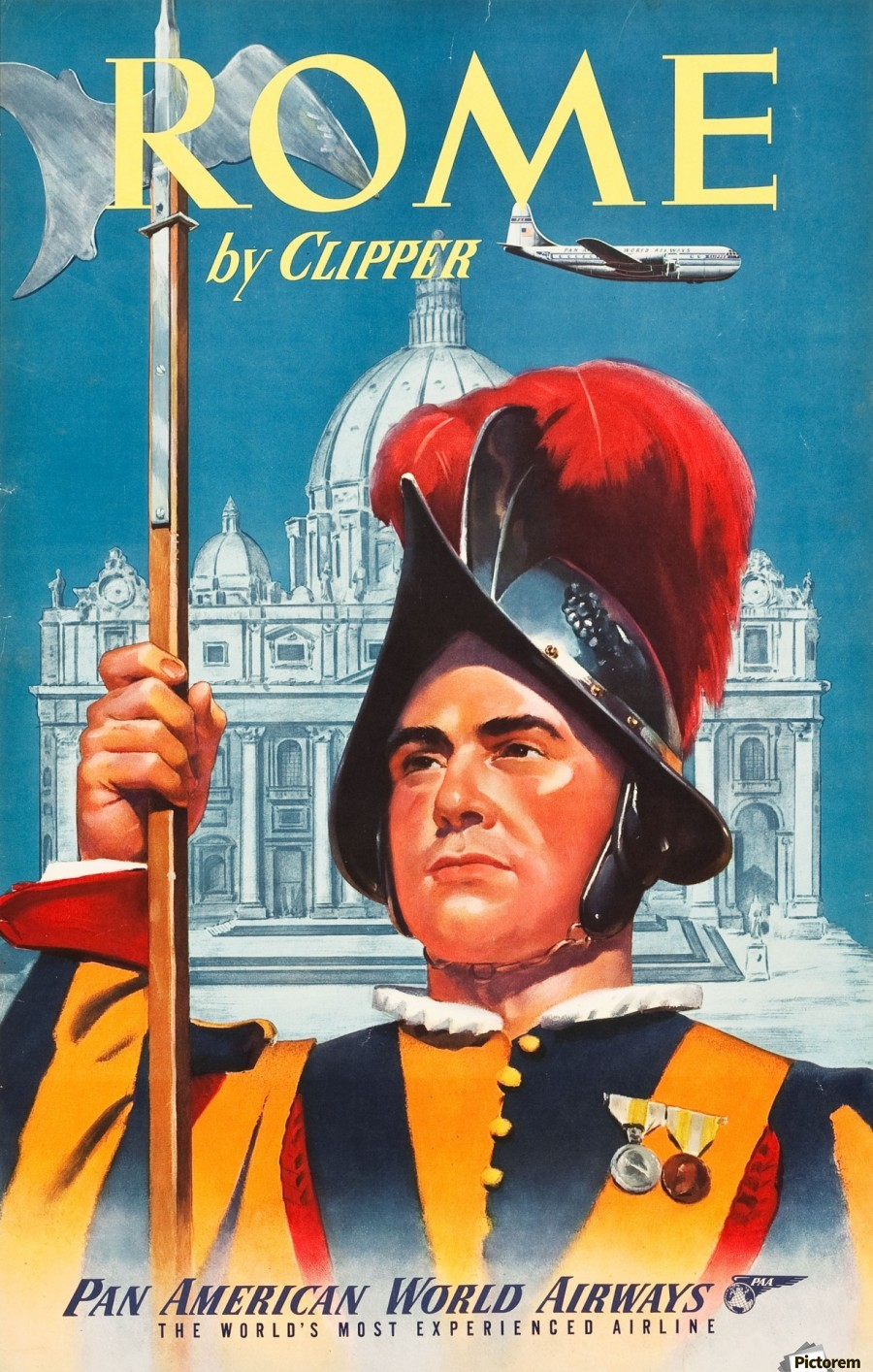 Rome Pan American World Airways Travel Poster