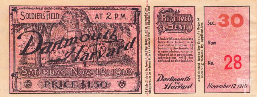1910 Dartmouth vs. Harvard   Print