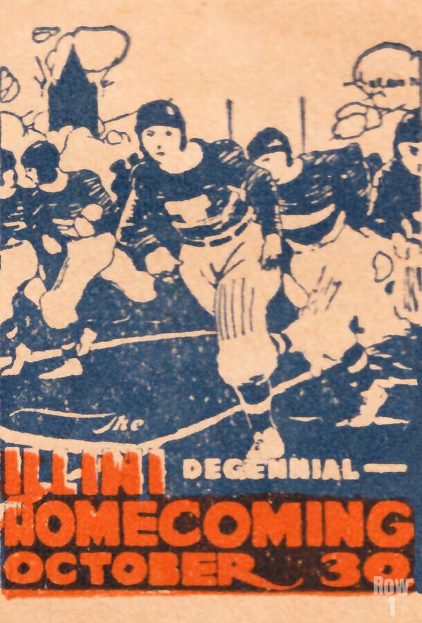 1920 illinois illini football homecoming art  Print