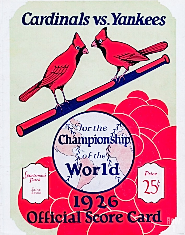 1926 World Series Score Card  Print