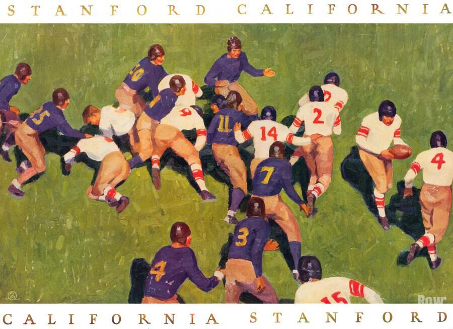 1927 cal stanford big game art vintage college football  Print