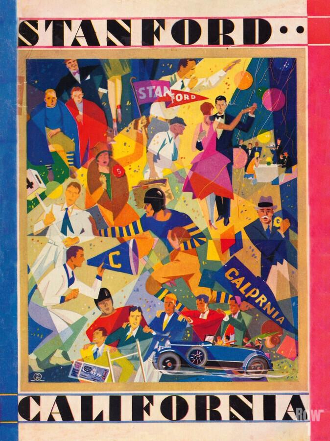 1928 cal stanford football program cover artwork for walls  Print