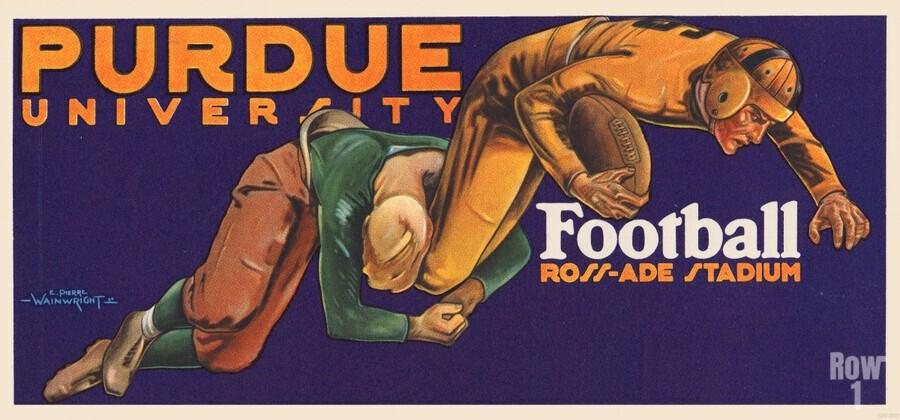 1929 purdue football art  Print