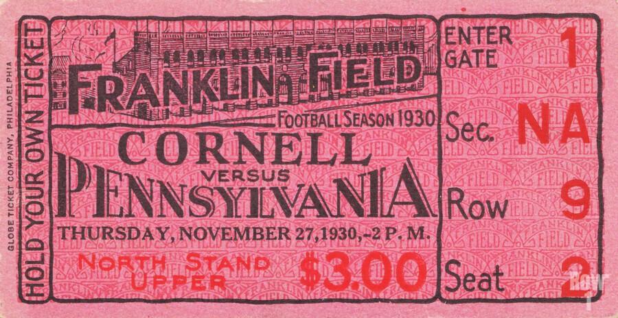 1930 Cornell vs. Penn  Print
