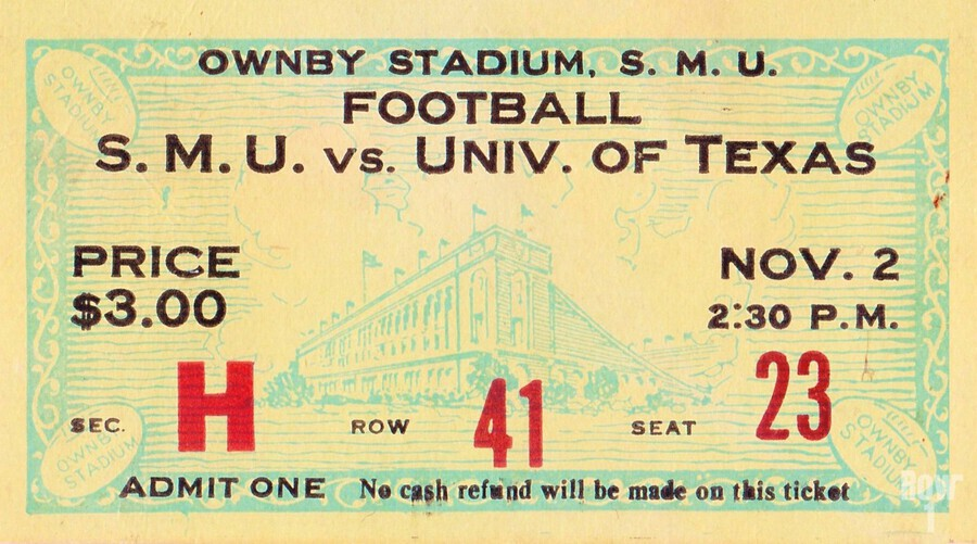 1935 SMU National Champions vs. Texas  Print