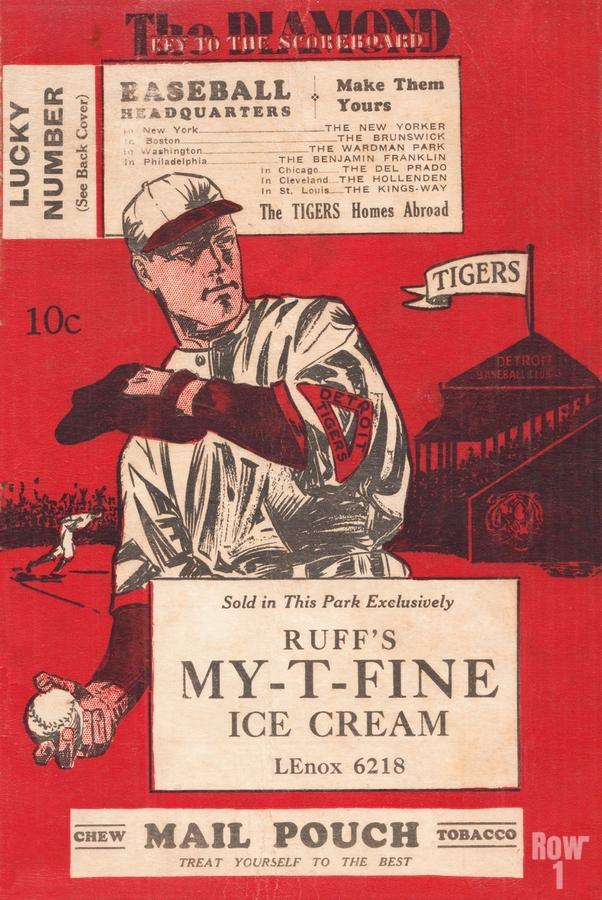 1933 Detroit Tigers Score Card Art  Print
