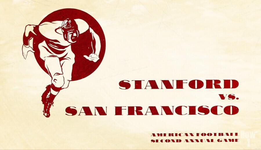 1933 Stanford vs. San Francisco American Football  Print