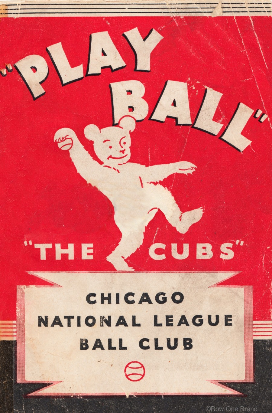 1934 Chicago Cubs   Print