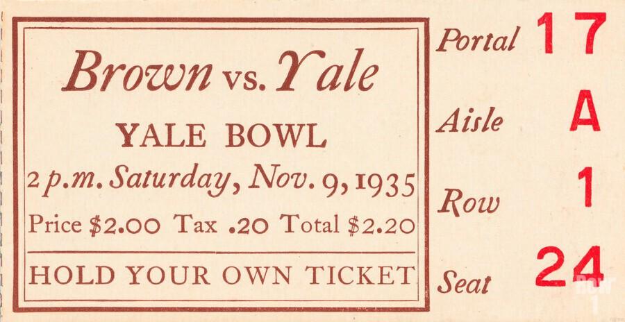 1935 Brown vs. Yale  Print