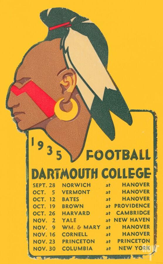 1935 Dartmouth Indians Football Poster  Print