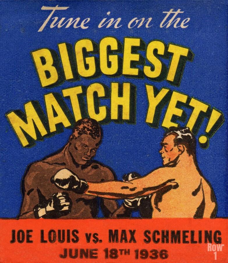 1936 Biggest Match Yet Joe Louis Fight  Print