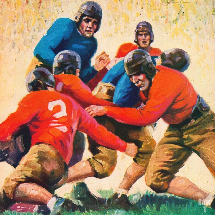 1937 Vintage Football Art  Print