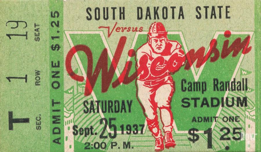 1937 South Dakota Jackrabbits vs. Wisconsin Badgers  Print