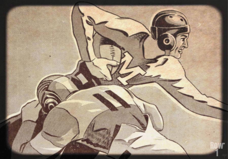 1938 Vintage Football Art   Row 1  Print