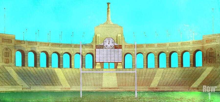 Vintage LA Coliseum Art   Print