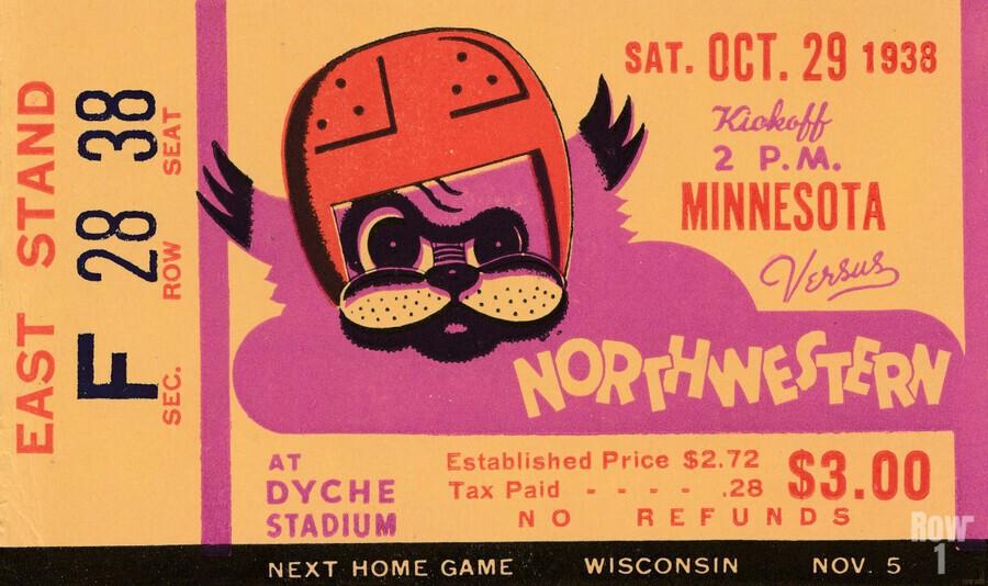 1938 Northwestern vs. Minnesota  Print