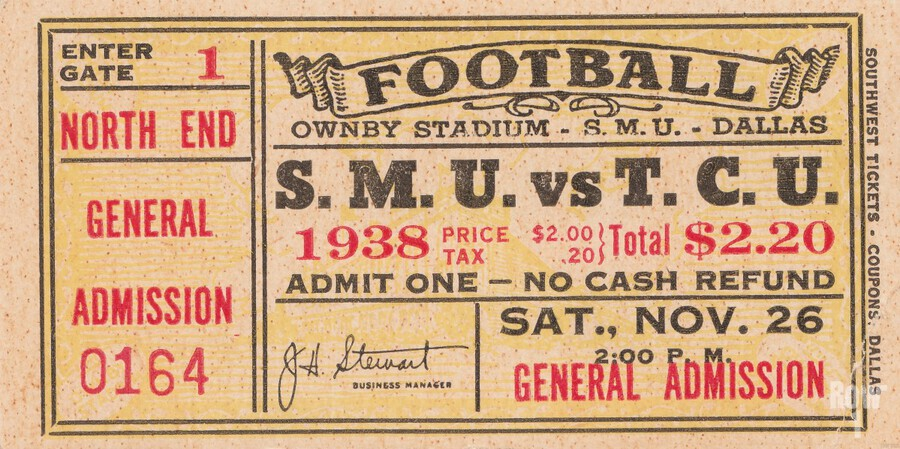 1938 TCU vs. SMU  Print