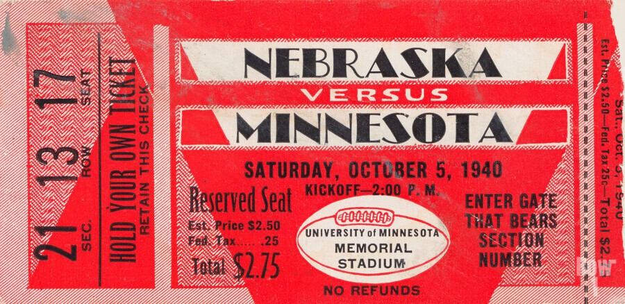 1940 Nebraska vs. Minnesota  Print