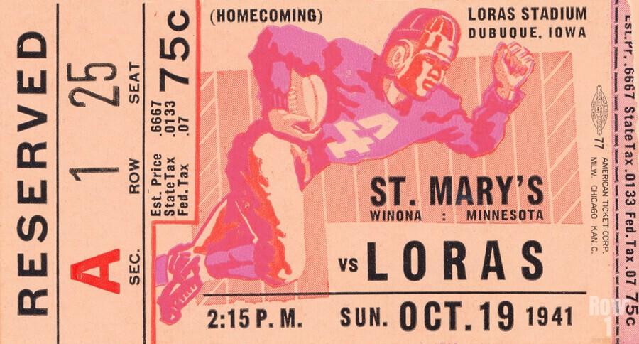 1941 St. Marys vs. Loras  Print