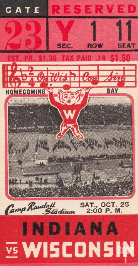 1941 Wisconsin vs. Indiana  Print