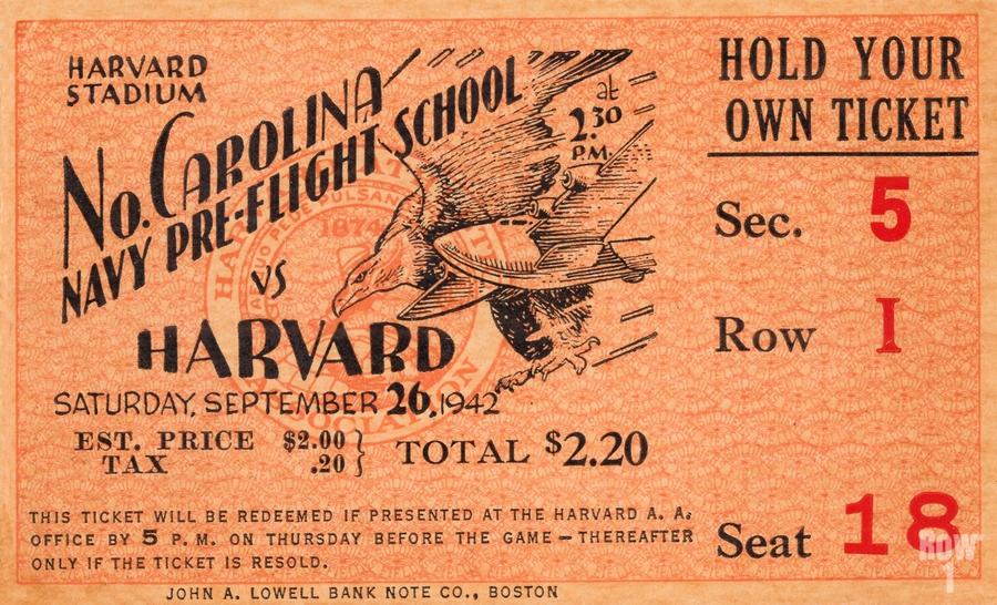 1942 Harvard Crimson vs. North Carolina Pre-Flight Cloudbusters  Print